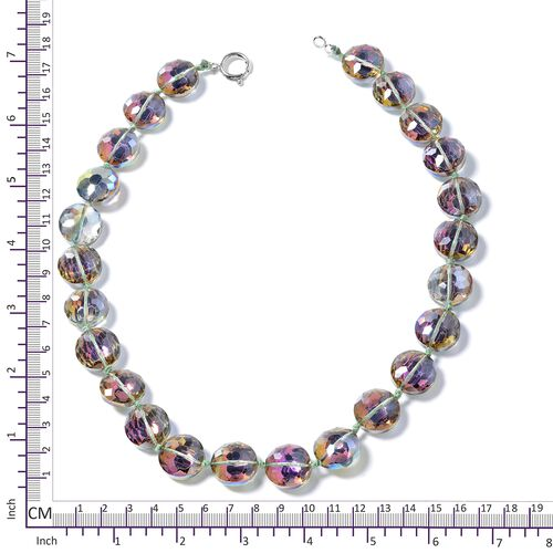 Simulated Rainbow Mystic Topaz Necklace (Size 21) in Silver Plated.