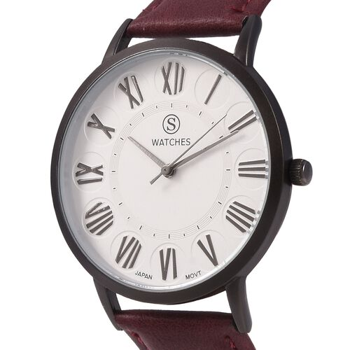 STRADA Japanese Movement Water Resistant Watch with Chocolate Colour Strap