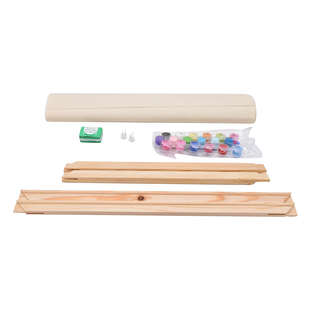 Painting By Numbers Kit - Lion (includes Wooden Frame, 3xPaintbrush, 25xPaints, 2xHooks and Screws,
