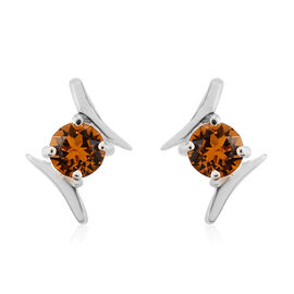 J Francis Crystal from Swarovski Topaz Colour Crystal Earrings in Sterling Silver