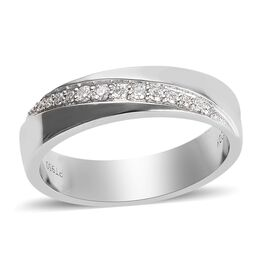 RHAPSODY Diamond Band Ring in 950 Platinum 6.70 Grams IGI Certified VS EF 0.10 Ct