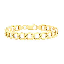 Italian Made - 9K Yellow Gold Curb Bracelet (Size 7.5), Gold wt 8.50 Gms