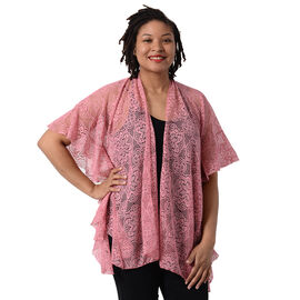 Jovie Floral Lace Kimono in Pink (Size 70x75cm)