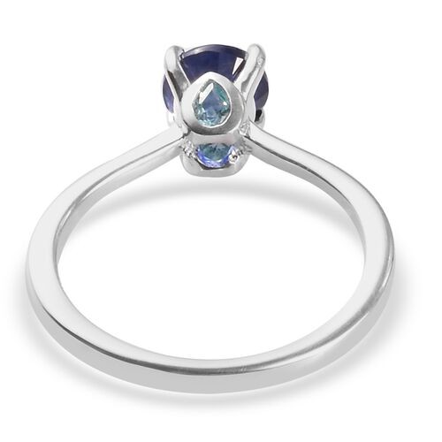 Masoala Sapphire and Blue Apatite Ring in Sterling Silver 1.25 Ct.