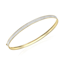 9K Yellow Gold Stardust Bangle (Size 7.5), Gold wt 2.30 Gms