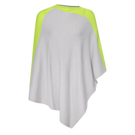 Kris Ana Lime Coloured Shoulder Grey Poncho One Size (8-18)