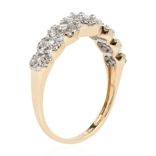 New York Close Out Deal - 14K Yellow Gold Diamond (Rnd) (I1-I2/G-H) Ring 0.650 Ct.Size N