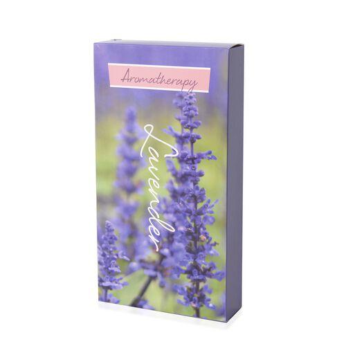 4 Piece Set - Lavender Flowers Sachets in Gift Box (Size 22.5X7.5 Cm)