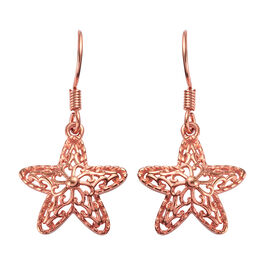Rose Gold Overlay Sterling Silver Hook Earrings