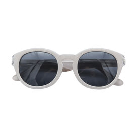 Loopies Round Polarized Folding Sunglasses in  French Grey & Transparent