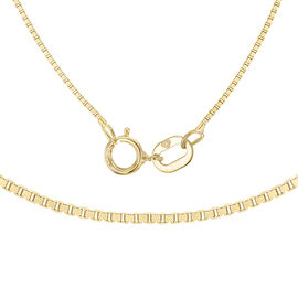 ILIANA 18K Yellow Gold Venetian Box Chain (Size 24)