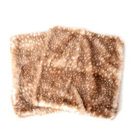 2 Piece Set - Superior Quality Faux Fur Reindeer Cushion Cover with Reverse Faux Mink (Size 45x45 Cm