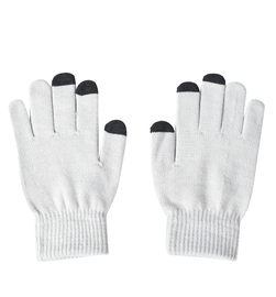 Unisex Triangle Thermal Touchscreen Gloves-Gray