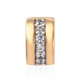 Natural Cambodian Zircon Charm in 14K Gold Overlay Sterling Silver 0.60 Ct.