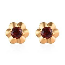 Mozambique Garnet (1.00 Ct) 14K Gold Overlay Sterling Silver Earring  1.250  Ct.