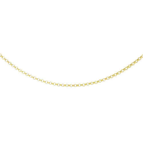 9K Yellow Gold Round Belcher Chain (Size 18),  Gold Wt. 1.40 Gms