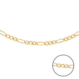 Hatton Garden Close Out Deal- 9K Yellow Gold Figaro Necklace (Size 24)