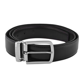 GIANFRANCO FERRE Mens 100% Genuine Leather Belt with Automatic Buckle (Size 125x3.5 Cm) - Black/Brow