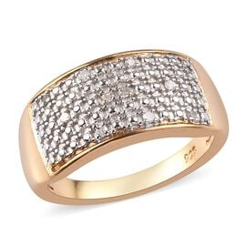 Diamond Cluster Ring in 14K Gold Overlay Sterling Silver 0.06 Ct.