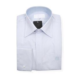 William Hunt Saville Row Forward Point Collar Light Blue Shirt Size 17.5