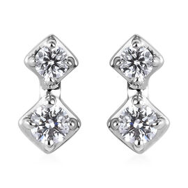 RHAPSODY 950 Platinum IGI Certified Diamond (VS/E-F) Earrings (with Screw Back) 0.25 Ct.