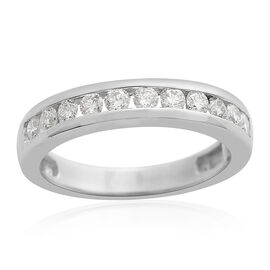 WEBEX- RHAPSODY IGI Certified Diamond (VS/E-F) (0.50 Ct) 950 Platinum Ring  0.500 Ct