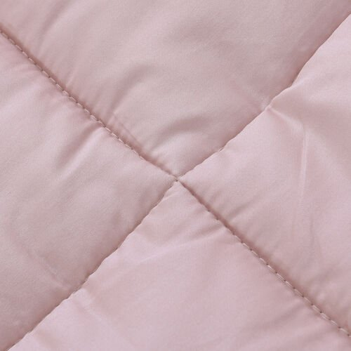 Serenity Night - Mulberry Silk Duvet with Square Quilting (Size King 225x220cm)- Caffe Latte Colour