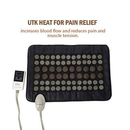 UTK Far Infrared 75W Natural Jade and Tourmaline Heating Pad with Plug and Cloth Cover (Size 59.5x40