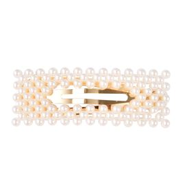 Simulated Pearl Hair Pin in Gold Tone