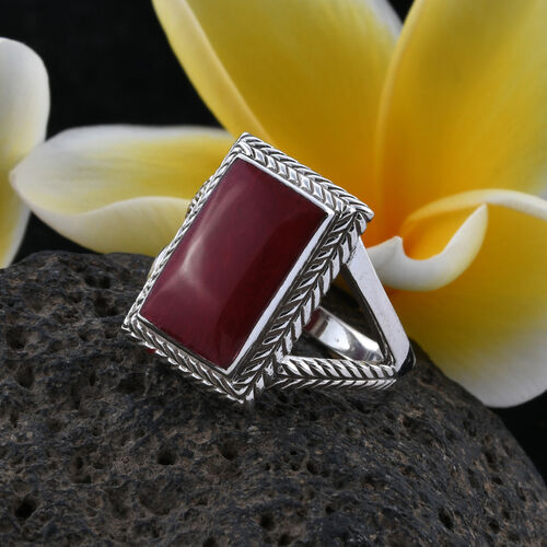 Royal Bali Collection Sponge Coral Ring in Sterling Silver, Silver wt 5.10 Gms.