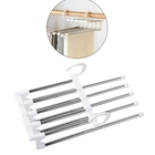 Set of 3-  5 Layered Trouser Rack in White