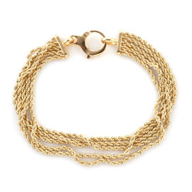 Limited Edition- Royal Bali Collection 9K Yellow Gold Rope Bracelet (Size 7.5), Gold wt 6.01 Gms.