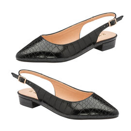 Ravel Black Highlands  Slingback Ballet Flats