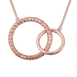 RACHEL GALLEY Allegro Collection - Rose Gold Overlay Sterling Silver Circle Link Pendant with Chain