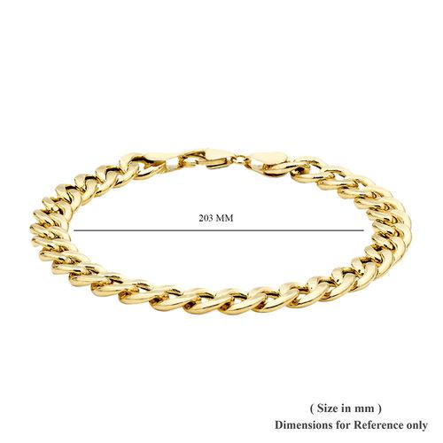 9K Yellow Gold Bracelet (Size 8), Gold wt 7.80 Gms.