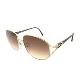 DIOR Ladies Oversized Gold Sunglasses with Brown Gradient Lenses and Tortoise Tips