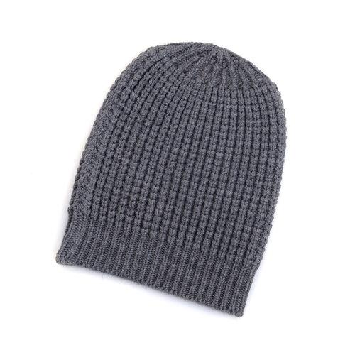 Grey Colour Cap (Size 30x20 Cm) and Muffler (Size 150x25 Cm)
