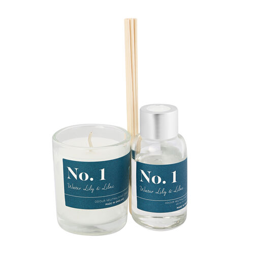 Wax Lyrical Gift Bag Includes Odour Neutralising Reed Diffuser (40ml) and Candle (66g) - Lily and Li