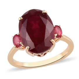 9K Yellow Gold African Ruby Ring 9.50 Ct.