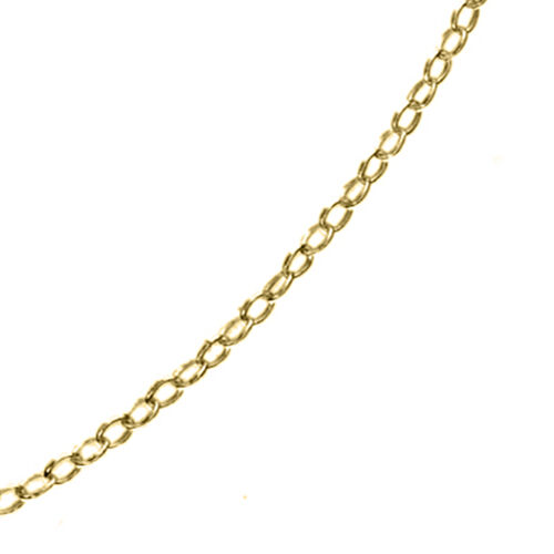 14K Gold Overlay Sterling Silver Trace Chain (Size 18 with 2 inch Extender)
