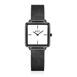 SASHA MOREL Sorrento Mesh Watch - Black