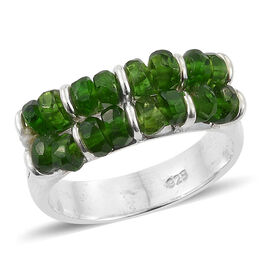 TJC Launch - Designer Inspired AA Russian Diopside (Rnd Beads) Ring in Sterling Silver 3.450 Ct, Silver wt 3.67 Gms.