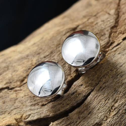 9K White Gold Stud Earrings (With Puch Back)