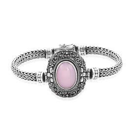 Royal Bali Pink Opal Tulang Naga Bracelet in Sterling Silver 32.50 Grams 6.75 Inch