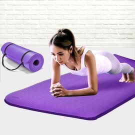 NBR Yoga Mat with Strap (188x61x1.27 Cm) - Purple