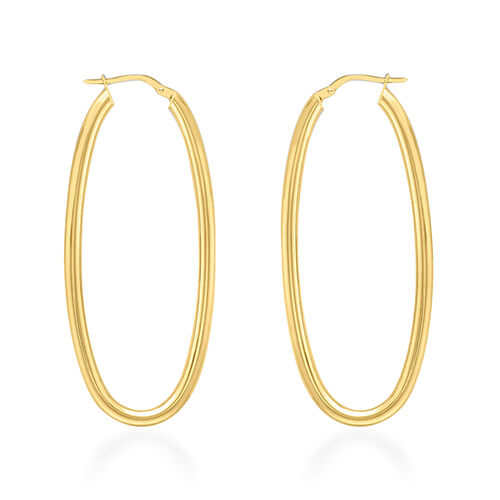 9K Yellow Gold Earrings (with Clasp), Gold wt 3.30 Gms