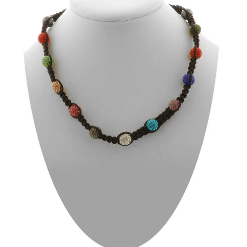 Multi Colour Austrian Crystal and Hematite Necklace (Adjustable)