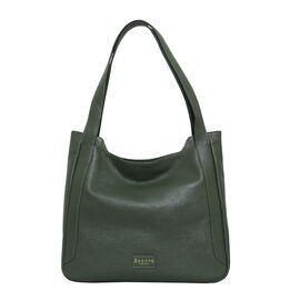 Assots London Leather Hobo/Tote Bag (Size 35x29x7cm) - Green