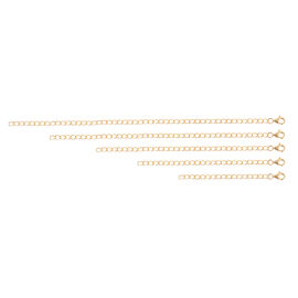 Set of 5 - Yellow Gold Overlay Sterling Silver Extender