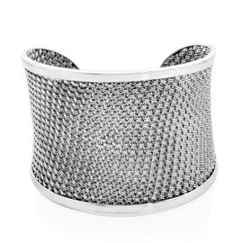 Royal Bali Cuff Bangle in Sterling Silver 67.20 Grams Size 7.5 Inch